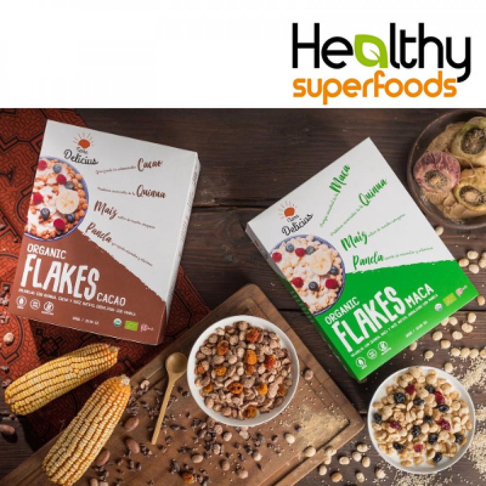 cereales orgánicos Hojuelas saludables Terra Delicius / organic cereal flakes